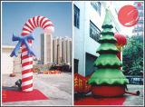 膨脹可能なクリスマスサンタ及びクリスマスツリーのアーチの装飾(H1-200)