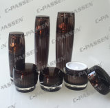 新しい到着の装飾的な包装の水晶ブラウンのアクリルの瓶のびん(PPC-CPS-079)