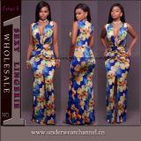 O vestido de noite Maxi longo impresso floral o mais atrasado do partido ocasional de Boho (TOSM7114)