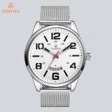Japón Movt. Reloj de acero clásico 72745 de los hombres de venda del acoplamiento del acero inoxidable