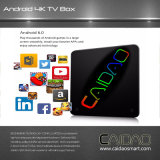 Rectángulo superior determinado del aire de RAM del precio 2GB de Tvbox de la TV TV de la base androide elegante del rectángulo 4k Amlogic S912 8 el mejor