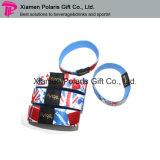 Bracelet élastique en nylon personnalisé par bracelet de tissu tissé par modèle de mode