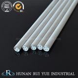 Tubo di ceramica di alto vuoto refrattario industriale dell'allumina