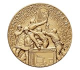 La médaille en alliage de zinc du moulage mécanique sous pression 3D avec le placage en laiton antique