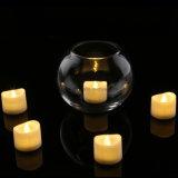 Vela falso eléctrica en blanco cálido realista y brillante parpadeo del LED sin llama de la luz del té