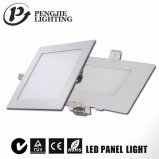 6W, Plaza de la luz de panel LED panel LED ultradelgado