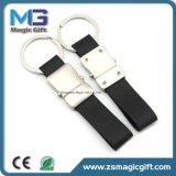 La vente en gros conçoivent le trousseau de clés en fonction du client d'unité centrale ou de cuir véritable