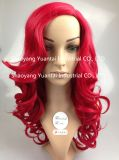 Usager célébrant la longue perruque synthétique ondulée de cheveu/la sensation cheveux humains