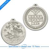 Medaille van de Afwerker van de Sport van het Email van de douane de Zilveren in Ronde Vorm