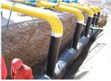PET imprägniern das selbstklebende Tiefbauantikorrosion-Rohr-Verpackungs-Band, Bitumen-Leitung-Band einwickelnd, das Butyl Polyäthylen Band