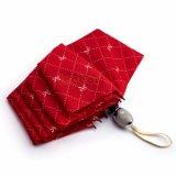 Automobile ouverte et parapluie se pliant proche de couleur rouge, parapluie solide de pongé avec l'arbre d'acier inoxydable, Sun/parapluie de Shaderain, parapluie de cadeau