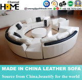 余暇の部門別の革ソファーはホーム家具(HC1043)のためにセットした