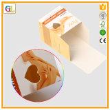 Cosmética cuidado del cuerpo de impresión de embalaje con ventanas troqueladas