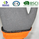 Gants de latex en nylon de protection du travail des gants de sécurité des gants en latex