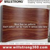 외면을%s PVDF 호두 나무로 되는 색깔 알루미늄 합성 위원회