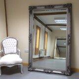 Vintage Home Decor Bois miroir encadré de moulage
