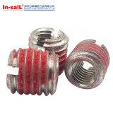 軽合金のためのセルフ・タッピング糸の挿入ナットのゴム製コーティング