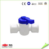 Válvula de esfera manual de fluxo rosca fêmea para sistema RO