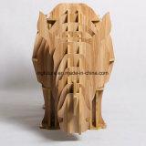 Spielzeug-dekorativen hölzernen Nashorn-Seiten-Tisch zusammenbauen