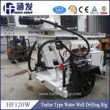 Plate-forme de forage de puits d'eau de remorque de Hf120W pour la vente