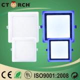 Luz fina Recessed multi cor quadrada azul de Ctorch painel/do verde/cor-de-rosa