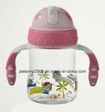 o melhor frasco de alimentação 260ml para o frasco de bebê plástico do bebê, palha do frasco de bebê (hn-1604)