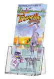 Bancada de acrílico transparente Tri-Fold Titular brochura