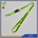 Straight Lanyard Green Polyester for Bank