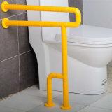 De muur-vloer zette de Nylon Met een laag bedekte U-vormige Staven Zonder hindernissen van de Greep van het Toilet op