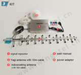 Antena Yagi y adaptador de corriente y antena de techo de techo Amplificador de señal móvil Set