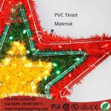 Indicatore luminoso decorativo della corda di natale di motivo del rattan del LED della stella variopinta del PVC 6W IP65