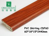 Vinlyの床60mmの高さPVC幅木