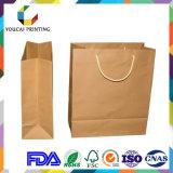Cadeau de Brown d'usine empaquetant le sac de papier d'emballage