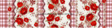 100%Polyester 끈 장미 Pigment&Disperse는 침구 세트를 위한 직물을 인쇄했다