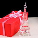 Корабль Эйфелевы башни кристаллический стекла для подарка