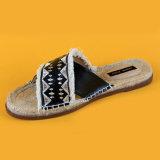 Фантазии и не формальный девочек женщин дамы креста планку плоских Loafer Espadrille слайд сандалии