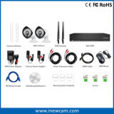 Wireless 4CH 2MP NVR e Waterproof IP Camera Security System