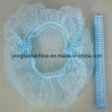 El PE plástico y casquillo Bouffant redondo no tejido de los PP que hacen la máquina