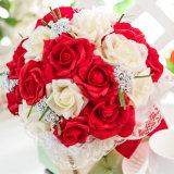 Шелк цветов оптовой продажи 3 имеющийся цветет розы Wedding Bridal букет