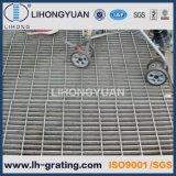 Reja serrada acero galvanizada para la calzada de la plataforma