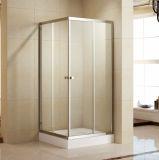 2개의 미닫이 문 (K-331)를 가진 강화 유리 샤워 울안