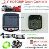 2.4inch LCDの5.0mega車のダッシュのカメラ、H. 264デジタルのビデオレコーダー、完全なHD1080p車のブラックボックス、DVR-2402の自動記録器車DVRを追跡する安い販売GPS