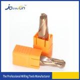 2 herramientas que muelen de la nariz de la bola redonda de las flautas para el acero de la velocidad