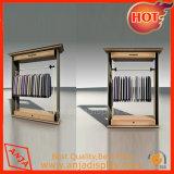 Unidades de la estantería de la visualización del departamento de los estantes de visualización de la ropa del metal con el gancho de leva
