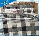 El diseño cuadriculado de la Marina Edredón ropa de cama de algodón impresos