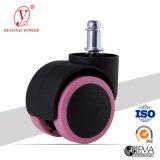 50mm paaren rosafarbene Belüftung-Büro-Stuhl-Fußrolle Rollen Möbel Schwenker-Fußrollen-Rad-Schrank-Fußrollen-Farben-Rad-Fußrolle