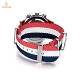 Fashion Mens Chronographe bracelet en acier inoxydable montre chronographe 72682