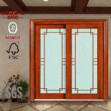 Portello di entrata anteriore di legno della cucina con vetro (GSP8-020)