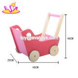 Venda por grosso de madeira rosa barato brinquedos para envio do bebé curta W16e082