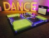 3in1 2017 конструкция 50 x 50 стеклоткань Cm RGB освещает вверх черную плитку танцевальной площадки белизны СИД